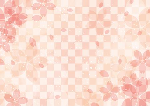 일본식 벚꽃 배경