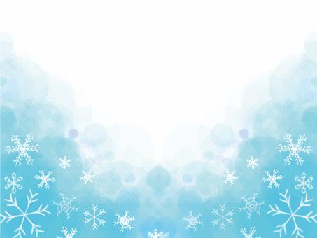 Winter snow scene frame 9