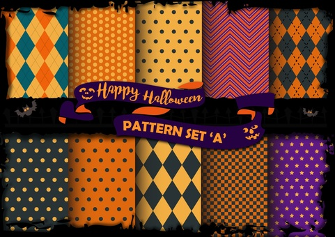 Design: Halloween pattern set A