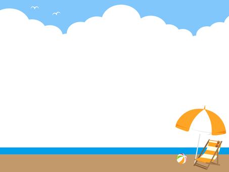 Decorative frame of beach umbrella