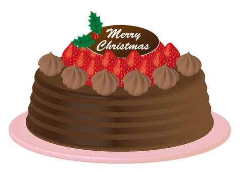 Christmas cake chocolate cake