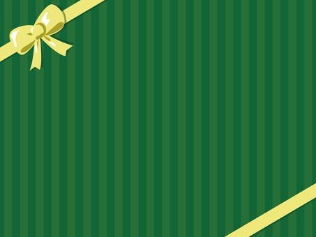 녹색 줄무늬 2 리본 2