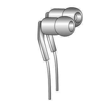 Earphone (silver)