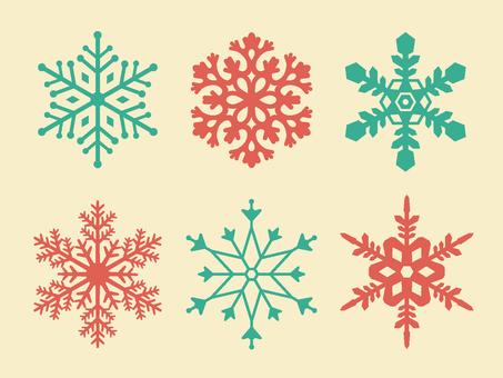 Winter illustration material 01