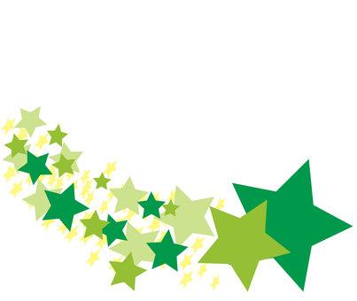 Green shooting star