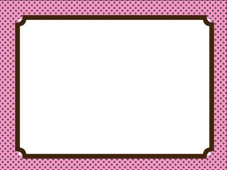 Frame pink polka dots