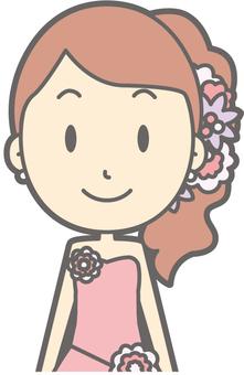 Bride Pink - Front - Bust