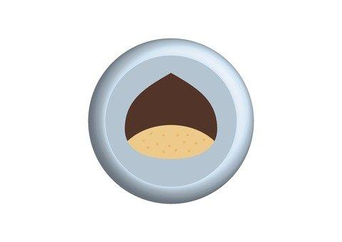 Chestnut button