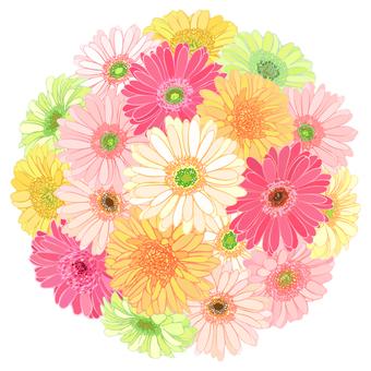 Gerbera Flower Temari-Single 02