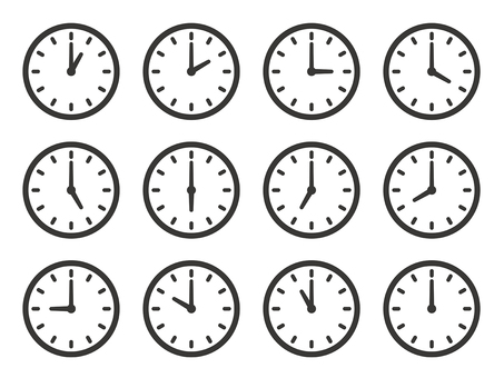 시계 아이콘 세트