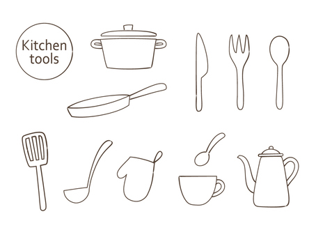 Kitchen tool (line drawing)