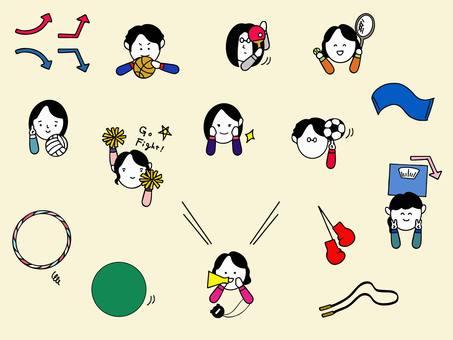 Sports motif set