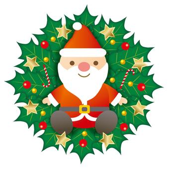 Santa's Christmas wreath