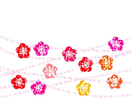 매화의 꽃 장식