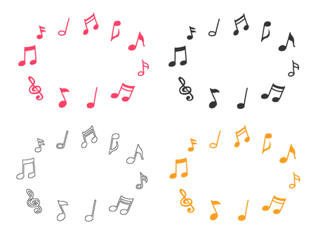 Hand-painted musical note material