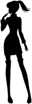Woman silhouette full body