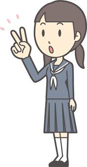 初中水手女人-208-全身