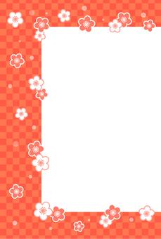Plum blossoms Frame (postcard size)