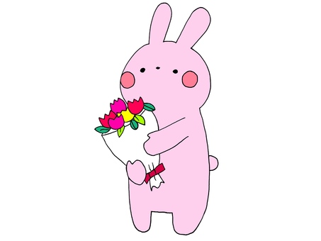 Usagi and bouquet 1 of 2