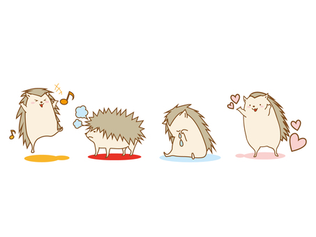 Hedgehog's emotions