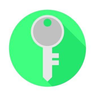 Flat icon - key