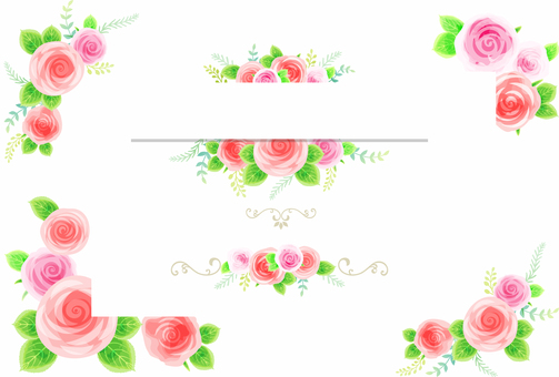 Rose decoration frame 05