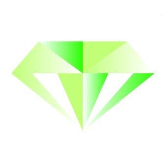 컷 다이아몬드 - 녹색