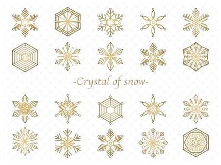 Material 169 (Snow crystal material set _ gold)