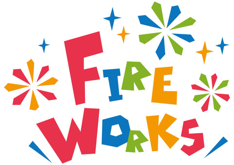 FIRE WORKS ☆ Fireworks ☆ English logo