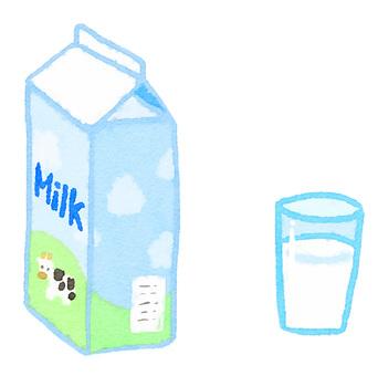 Watercolor ingredients series milk