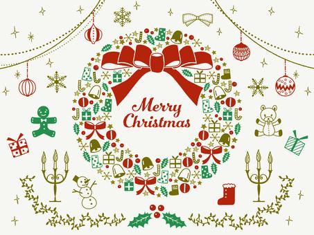 Navidad / conjunto de ilustraciones pintadas a mano / arrendamiento