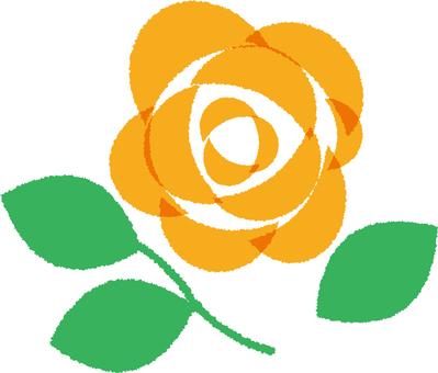 Simple Rose Orange