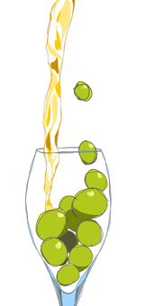 Grapes and glasses