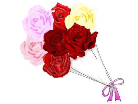 美麗的玫瑰花束
