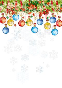 Christmas wreath & snow 14