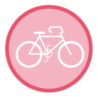 Bicycle _ icon _ cherry tree