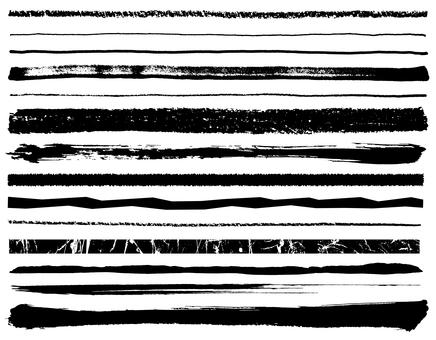各种线黑色