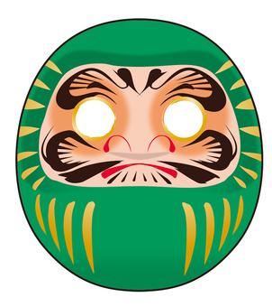 Green Daruma