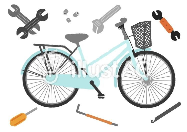 自転車 のイラスト