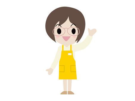 슈퍼 점원 여성