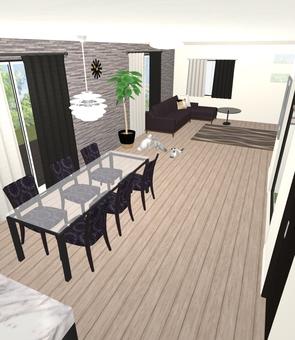 5LDK Floor Plan ① (3D figure · LDK ①)