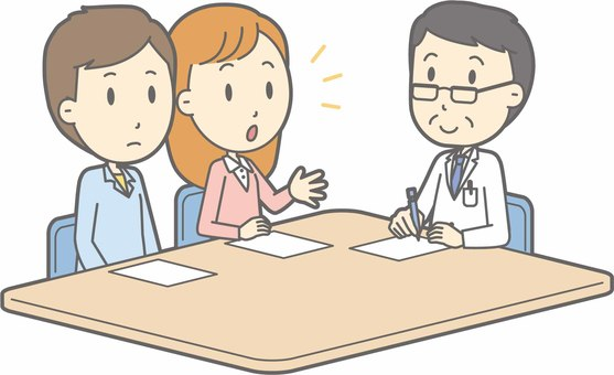 Consult with a doctor - Young people and male doctors - whole body