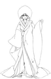Kashima Maehi, White Pure Musume 2 (Line drawing)