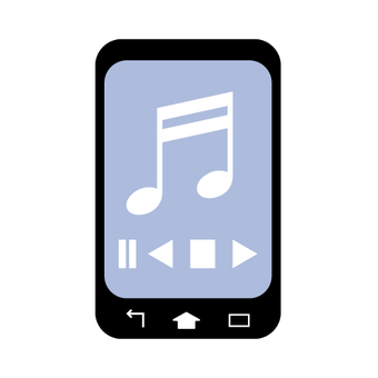 Music application screen (smartphone)