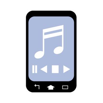 음악 앱의 화면 (스마트 폰)