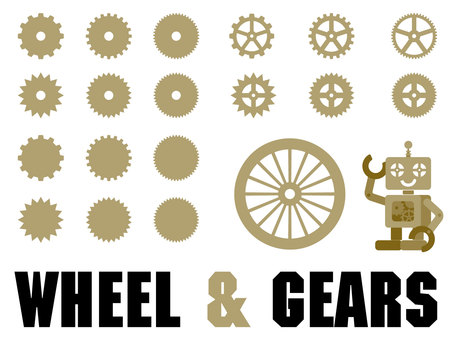 Set of wheels and gears