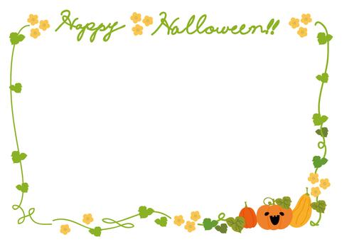 Halloween pumpkin frame 1