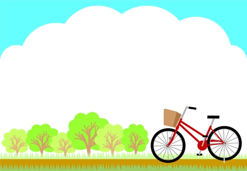 Scenery with a bicycle