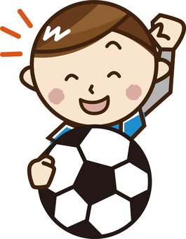 A boy with a soccer ball _A19
