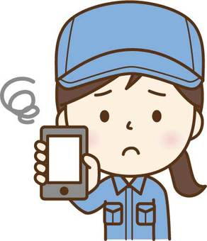 Work wearing female C showing a smartphone C